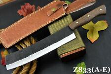 "13.5"" OAL Hammered Spring Steel 5160 Hunting Knife Handmade,No Damascus (Z833-C)"