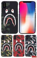 A Bathing Ape Bape ABC Camo Shark Phone Case For iPhone XS Max XR X 8 7 Plus 6S
