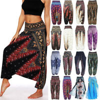 Women''s Thai Harem Trousers Yoga Pants Ladies Baggy Boho Aladdin Alibaba Hippie