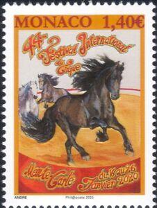 Monaco 2020 Circus Festival/Horse/Animals/Nature 1v (mc1214)