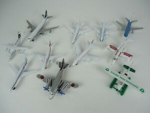 Lot of 11 Airplanes British Airways, DHL Commercial Airliners Diecast Planes