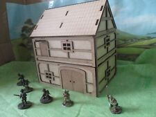 28mm Ancient Fantasy Warehouse or Barn double storey Timber clad tudor scenery