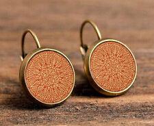 new mandala silver Glass cabochon 18mm handmade Earrings Jewelry GC-06