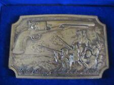 Colt Firearms Brass Belt Buckle 1860 Army In Box New