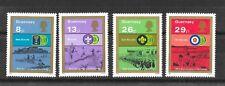 Guernsey 1982 75th Anniv of Boy Scouts Movement Sg259-262  MNH/UMM