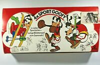 Disney EXTREMELY RARE VTG Sport Goofy Rubber Stamps,Compete Collection of 24 NIB