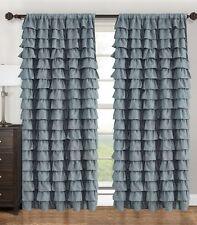 "WATERFALL Fabric Ruffled  Window Panel size 60"" x 90"""