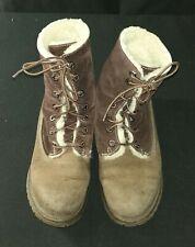 Timberland Classic Women's Lambskin Winter Boots Brown size 6.5 RRP £190.00