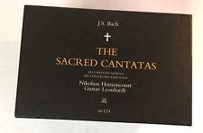 Bach The Sacred Cantatas HARNONCOURT LEONHARDT TELDEC 59/60 CD BOX