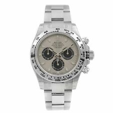 Rolex Cosmograph Daytona Silver Dial 18k White Gold Mens Watch 116509-0072