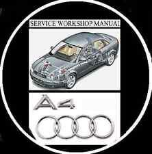 Audi A4 B5 B6 1997-2005 Petrol Models Workshop Repair Manual CD