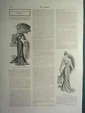 1900 VICTORIAN PRINT ~ WELL-DRESSED WOMAN FASHION ~ DEMI-SAISON DRESS EVENING