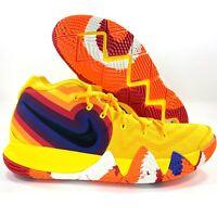Nike Kyrie 4 Decades Pack 70's Yellow Black Sail White 943806-700 Men's 13