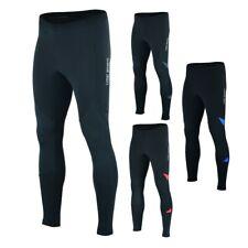 Mens Thermal Cycling Tights Padded Long Pants Zipper Bike Leggings Cold Wear