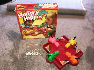 THE HUNGRY HIPPOS GAME : - RARE LARGE BOX MB GAMES EDITION (FREE UK P&P)