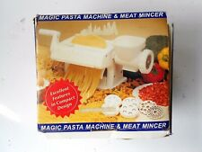 Magic Pasta Machine and Meat Mincer~~Plastic with 2 metal disc