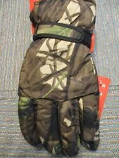 Tru Fit Poly One Size Mens Camoflage Insulated Waterproof Ski Gloves NEW w/Tags