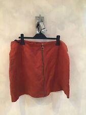 atmosphere rust faux velvet skirt 20