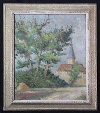 Huile sur toile impressionniste attribuée à Richard Paysage de Normandie ?