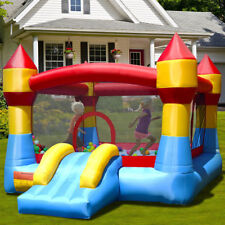 Kids Inflatable Bounce House Castle Blow UP Air Jumper Moonwalk Slide NO Blower
