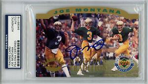 Joe Montana Autographed 1995 Upper Deck LE Trading Card PSA Slab 32638