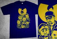 New Navy Blue Wutang Clan shirt RZA raekwon gza wu  supreme vtg cajmear M L XL