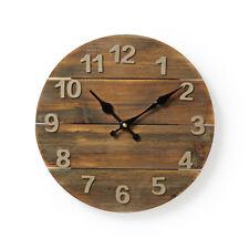 30cm Wanduhr Küchenuhr Design modern Küche Vintage Quarzuhr Uhr Retro Holz