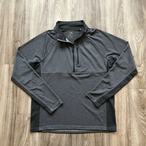 The North Face Ambition 1/4 Zip Pullover L/S Flashdry Gray Thumbholes Men's L