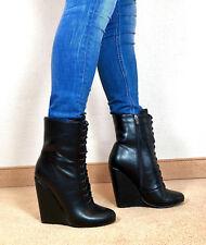 Gr.46 TOP ! Exklusiv Sexy Damen Schuhe Wedges Stiefeletten Männer Boots E7