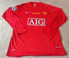Manchester United 2008 Ryan Giggs L/S Champions League Final Trikot Herren XL