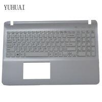 For sony Vaio SVF152C29M SVF1521K1EB SVF152C29M US keyboard white Palmrest Cover