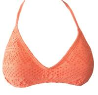 So Size XS S M L XL Bright Coral Orange Crochet Padded Bikini Swim Top FREE SHIP