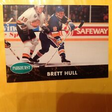 BRETT HULL 1991  Parkhurst Hockey card #157. NHL Blues
