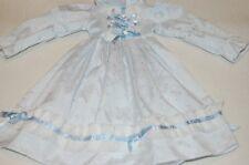 Altes Puppen Kleid für antike Puppe Gesamtlänge ca.32cm mit Spitze