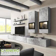 Parete attrezzata EMOTION Gihome® mobile porta tv soggiorno moderno design led