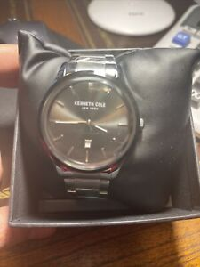 Kenneth Cole KC50887001 Men's 44mm Stainless Steel Gray Dial Quartz Watch