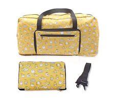 Finex Gudetama Foldable Travel Duffle Bag Strap to carryon luggage Lazy Egg Yolk