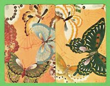 2 Single VINTAGE Playing/Swap Cards ANIMALS BUTTERFLIES MOTHS A24