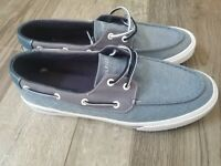 TOMMY HILFIGER Casual Boat Shoe Loafers Navy/White Mens Size 12 - TMPHARIS