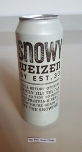 Snowy Weizen Collectible Beer Can Thailand by EST. 33 Empty 490 ml Bottom Opened