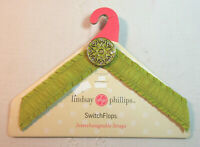 Lindsay Phillips SwitchFlops 5-6 Small Interchangeable Straps Celery Green
