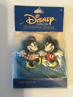 Vintage 1989 Walt Disney Company Mickey & Minnie Mouse Decorative Candle Sealed