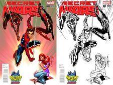 Secret Wars #1 J Scott Campbell Midtown Exclusive Variant Set - Spider-Man & MJ