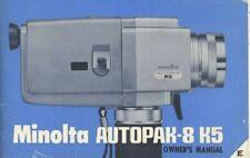 Minolta Autopak-8 K5 Instruction Manual Original