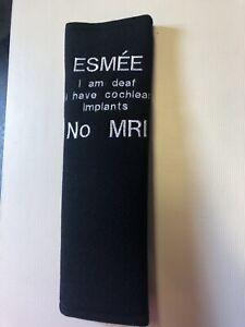 Kids Seat Belt / Pram Pad Personalised Name/disability/allergy /deaf/no MRI