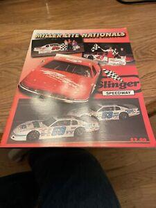1997 Slinger Miller Lite Nationals Racing Program Rich Bickle Cover