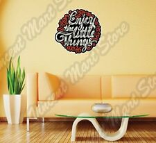 "Enjoy The Little Things Expression Creative Wall Sticker Interior Decor 22""X22"""