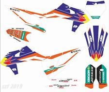 KTM 125-450SX SXF 2019 2020 motocross full custom name graphics kit