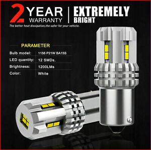2x Bulbs Reverse LED P21W 12Smd BA15S 30W White 6000K Canbus Ford Kuga I 08-12