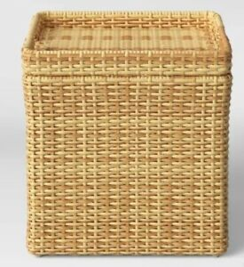 Wicker Storage Patio Accent Table - Threshold™